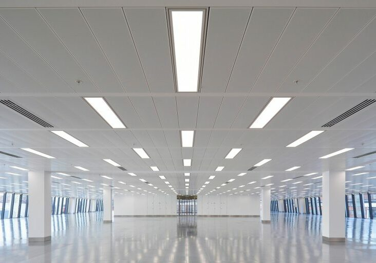 Office 8' Recessed Linear Lighting